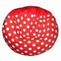 Piros-fehér pöttyös multifunkcionális babzsák kicsiknek, Bútor, Otthon, lakberendezés, Mindenmás, Babzsák, Bolondgomba, sok mindenre alkalmasan :) Különlegessége, hogy rengeteg módon használhatod: kiterítve ..., Meska