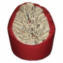 Daily News piros babzsi, Bútor, Otthon, lakberendezés, Babzsák, Nagyobb fotel fazon, extra minőségű textilből, Citylife hangulatban. Dupla huzatos, utántölthe..., Meska