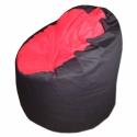 Fekete-piros babzsi, Bútor, Otthon, lakberendezés, Babzsák, Varrás, Élénk színek, felülmúlhatatlan kényelem. Fotel fazonú babzsi, mely kiterítve pocolásra is remek. Du..., Meska