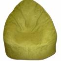 Kiwizöld zsenília babzsi, Bútor, Otthon, lakberendezés, Babzsák, Élénk zöld babzsákfotel, puha, erős zsenília textilből. Szélesebb és alacsonyabb fazon, kényelmesen ..., Meska