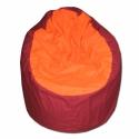Bordó-narancs babzsi, Bútor, Otthon, lakberendezés, Mindenmás, Babzsák, Ha az élénk színeket kedveled, ez a Te foteled! Felállítva fotelként, fektetve pocolásra használhato..., Meska