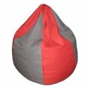 Piros-szürke csepp alakú babzsi, Bútor, Otthon, lakberendezés, Mindenmás, Babzsák, Csepp alakú, hat cikkből álló fotel, extra minőségű, strapabíró lakástextilből,  felnőtteknek és gye..., Meska