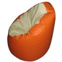 Narancs-nyers textilbőr babzsákfotel, Bútor, Dekoráció, Otthon, lakberendezés, Babzsák, Textilbőr babzsák, narancssárga-nyers színek kombinációjában. Természetesen ez is dupla huza..., Meska