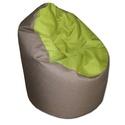 Barna-zöld babzsi, Bútor, Otthon, lakberendezés, Babzsák, Visszafogott színek, extra minőségű textil, minden környezetbe illik. Standard fotel modell. Dupla h..., Meska