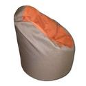 Barna-narancs babzsi, Bútor, Otthon, lakberendezés, Babzsák, Visszafogott színek, extra minőségű textil, minden környezetbe illik. Standard fotel modell. Dupla h..., Meska