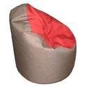 Barna-piros babzsi, Bútor, Otthon, lakberendezés, Babzsák, Visszafogott színek, extra minőségű textil, minden környezetbe illik. Standard fotel modell. Dupla h..., Meska
