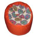 Narancs-mandala babzsi, Bútor, Otthon, lakberendezés, Mindenmás, Babzsák, Standard fotel alakú babzsi extra, kényelem! Felállítva fotelként, fektetve pocolásra használhatod. ..., Meska