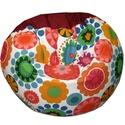 Multifunkcionális babzsák bordó-virágos színekben, Bútor, Dekoráció, Otthon, lakberendezés, Babzsák, Újfajta babzsi érkezett a többiek közé!!! Különlegessége, hogy rengeteg módon használhatod: kiterítv..., Meska