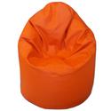 Narancs textilbőr babzsákfotel miniben, Bútor, Otthon, lakberendezés, Babzsák, Textilbőr babzsi, kicsit kisebb méretben, gyerekeknek, apróbb felnőtteknek :).  Dupla huzatos, utánt..., Meska