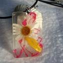 Virágos gyanta nyaklánc, Ékszer, Fülbevaló, Valódi virágból,virágsziromból készült ez az egyedi gyanta nyaklánc., Meska