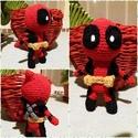 Deadpool figura, Játék, Játékfigura, Horgolás, Amigurumi technikával készült Deadpool figura, kb 15 cm nagyságú. , Meska
