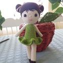 Kontyos baba, Játék, Baba játék, Játékfigura, Horgolt amigurumi technikával készült kontyos baba, mérete kb 25 cm. Eltérő színben és hajja..., Meska