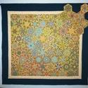 """""""Luna"""" - textilkép, Otthon & lakás, Dekoráció, Kép, Képzőművészet, Textil, Lakberendezés, Falikép, Patchwork, foltvarrás, Varrás, Kaleidoszkóp technikával készült textilkép, melynek érdekessége az áttört keret. Dinamikus, vibráló..., Meska"""