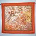 """""""Őszi sanzon"""" - textilkép, Otthon & lakás, Dekoráció, Kép, Képzőművészet, Textil, Lakberendezés, Falikép, Patchwork, foltvarrás, Varrás, Bátor választás a narancssárga, annyi energiát hordoz, hogy bizony megfelelő környezetben kell elhe..., Meska"""
