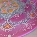 Illatos jázminvirág, Otthon, lakberendezés, Esküvő, Falikép, 25 cm átmérőjű selyem mandalakép, illatos mandarin, lágy rózsaszín és elegáns lila színek..., Meska