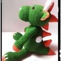 Zazu a sárkány horgolt amigurumi, Játék, Játékfigura, Horgolás, Horgolt sárkány. Mérete: 19-20 cm a test, szarvacskáival együtt 23 cm ülve. Vatelinnel töltve. Aliz..., Meska