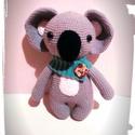 Momo a koala - horgolt amigurumi, Játék, Játékfigura, Horgolás, Horgolt koala. Mérete: kb 23 cm  Világos szürke Alize fonálból, vatelinnel töltve és biztonsági sze..., Meska