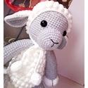 Lucy bari - horgolt amigurumi bárány, Játék, Játékfigura, Horgolás, Horgolt bárány. Alize cottong gold és baby fonálból készült, vatelinnel töltve, biztonsági szemmel...., Meska