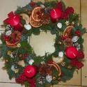 ADVENTI,karácsonyi, ajtódísz,asztaldísz,koszorú,kopogtató, Dekoráció, Otthon, lakberendezés, Ajtódísz, kopogtató, Ünnepi dekoráció, Egyedi,-Kivánságra bármilyen  szinű,méretű,adventi koszorút készitek.Kérlek  időben rendelj,az adott..., Meska