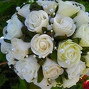 -ESKÜVŐI,ünnepi romantikus csokor, Esküvő, Dekoráció, Esküvői csokor, Csokor, A Nagy nap mindenki életében legalább egyszer beköszönt. 30 szál fehér ,ekrü és krém rózsából készül..., Meska