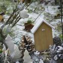 TÉLI ESTE- téli,karácsonyi ajtódísz,koszorú,kopogtató,asztaldísz, Dekoráció, Ünnepi dekoráció, Karácsonyi, adventi apróságok, Karácsonyi dekoráció, Asztaldísz, Ajtódísz, kopogtató, Természetes anyagok felhasználásával készült a díszem .Asztaldíszed,akasztóval ajtódíszed lehet.  mé..., Meska