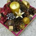 Karácsonyi  asztaldíszek, Dekoráció, Otthon, lakberendezés, Ünnepi dekoráció, Asztaldísz, Négy féle színű asztaldiszt készitettem ( rubin,bordo -arany,zöld,narancs),otthonod disze lehet bárm..., Meska