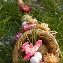 TAVASZ húsvéti -bőségszarú asztaldísz,asztalközép, Dekoráció, Otthon, lakberendezés, Asztaldísz, Tavasz,húsvét idején díszítheti otthonod egyedi díszem Ajtódíszt is talált hozzá,nézz szét bátran. ...., Meska