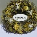 HOME--Romantikus ajtódísz,falidísz,kopogtató.koszorú, Dekoráció, Otthon, lakberendezés, Dísz, Ajtódísz, kopogtató, romantikus kedvelőknek. Száritott  ,illatos gyógynövényekből készült a díszem levendula,achellia,sóv..., Meska