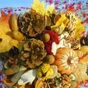 Őszi hangulat-őszi,asztaldísz,csokor, Dekoráció, Otthon, lakberendezés, Asztaldísz, Csokor, Őszi természetes hangulatú asztaldíszt,csokrot készítettem, névnapra,születésnapra,házavatóra,....aj..., Meska