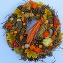 BARNA GOMBOK-őszi termés koszorú,ajtódísz,kopogtató, Dekoráció, Otthon, lakberendezés, Dísz, Ajtódísz, kopogtató, Az ŐSZ szinei káprázatosak,újra meg ihletett ez a csoda. Tartós őszi termésekből készült a koszorú. ..., Meska