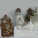 MERRY CHRISTMAS -vintage asztaldísz,asztalközép,koszorú, Dekoráció, Otthon, lakberendezés, Dísz, Asztaldísz, Természetes anyagok felhasználásával vintage stilusban karácsonyi dekoráció  méret. fatalp20X10  mag..., Meska