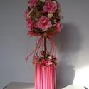 TAVASZ-húsvétfa-pinkes asztaldísz, Dekoráció, Otthon, lakberendezés, Dísz, Asztaldísz, Tavaszt idéző asztaldísz   méret 38cm mag., Meska