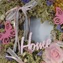 Pillangók tánca -koszorú,ajtódísz,kopogtató, Dekoráció, Otthon, lakberendezés, Dísz, Ajtódísz, kopogtató, Száraz virágkötészet  Illlatos ,száritott cickafark,sóvirággal kombinálva, Meska