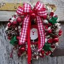 HULL a PELYHES...téli,karácsonyi ajtódísz,koszorú,kopogtató, Dekoráció, Otthon, lakberendezés, Dísz, Ajtódísz, kopogtató, Virágkötés, Hull a pelyhes fehér hó.....téli,karácsonyi,adventi ajtódíszt készitettem.  méret 27cm, Meska