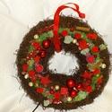 Karácsonyi fahéj illata-Világítós-adventi,karácsonyi koszorú,ajtódísz,kopoogtató, Dekoráció, Otthon, lakberendezés, Dísz, Ajtódísz, kopogtató, Virágkötés, Egyedi,különleges,világítós,fahéj illatos falidíszt,ajtódíszt készítettem.  méret 30cm, Meska