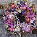 Pillangók tánca -tavaszi-nyári koszorú,ajtódísz,kopogtató, Dekoráció, Otthon, lakberendezés, Dísz, Ajtódísz, kopogtató, Virágkötés, Száraz virágkötészet  Illlatos ,száritott cickafark,sóvirággal ,rózsával ,orchideával kombinálva  m..., Meska