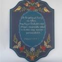 Igés tábla, Magyar motívumokkal, Otthon, lakberendezés, Mindenmás, Vallási tárgyak, A tábla bibliából idézet felirattal rendelhető.  Mérete: 29*20*2( cm)  Egyedi feliratozást is..., Meska