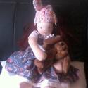 Blanka, Baba-mama-gyerek, Játék, A baba 40cm :) A teste 100%pamut anyagból készült. (Öko- Tex) Töltete gyapjú, ruhája pamut, s..., Meska