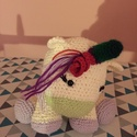 Unicornis, Baba-mama-gyerek, Gyerekszoba, Szivárványos unikornis,puha kis kedvenccé fog válni :) Egyszarvú, ló alakú mitikus állat :) ..., Meska