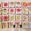 Textil memóriakártya, készségfejlesztő párkeresőjáték, Baba-mama-gyerek, Játék, Képzőművészet, Készségfejlesztő játék, Tartós játék, mert nem papír hanem pamut anyagból készült.  Tündéri mintákat válogattam h..., Meska