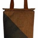 Crosswise, Táska, Válltáska, oldaltáska, Gyapjú táska, bőr vállpánttal. Zipzárral, belső zsebbel. A táska bevaslható vászon mereví..., Meska