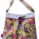 Springlike AKCIÓ, Táska, Válltáska, oldaltáska, Romantikus, kis méretű táska, mágneszárral, belső zsebbel. A táska bevasalható vászon merev..., Meska