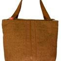 Big 3, Táska, Válltáska, oldaltáska, Gyapjú táska, bőr pánttal és díszítéssel. Zipzárral, belső zsebbel. A táska bevaslható v..., Meska