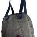 Jóga chick táska, Táska, Válltáska, oldaltáska, Kockás táska zipzárral. Elöl egy nagyobb zseb és belül kisebb zsebek. A táska bevaslható vá..., Meska