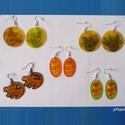 Zsugorka fülbevalók, Ékszer, óra, Fülbevaló, Zsugorka, Zsugorkából készítettem ezeket a vidám, színes fülbevalókat.  A kör alakúak 3 cm átmérőjűek. Az ová..., Meska