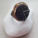 """""""Éjfél"""" - Fekete raku kerámia gyűrű , Ékszer, Gyűrű, Az alábbi gyűrű egy különleges kerámiakészítési technikával készült, melynek raku a neve.   A raku j..., Meska"""