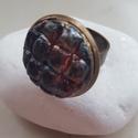 """""""Sötétkék égbolt"""" - raku kerámia gyűrű , Ékszer, Gyűrű, Az alábbi gyűrű egy különleges kerámiakészítési technikával készült, melynek raku a neve.   A raku j..., Meska"""