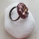 """""""Bronz-bordó"""" - Raku kerámia gyűrű , Ékszer, Gyűrű, Az alábbi gyűrű egy különleges kerámiakészítési technikával készült, melynek raku a neve.   A raku j..., Meska"""