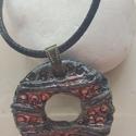 """""""Óceánok kékje""""  raku kerámia nyaklánc, Ékszer, Medál, Nyaklánc, Ez a nyaklánc egy különleges kerámiakészítési technikával készült, melynek raku a neve.    A raku ja..., Meska"""