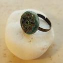 """""""Türkíz virág"""" - Raku kerámia gyűrű , Ékszer, Gyűrű, Az alábbi gyűrű egy különleges kerámiakészítési technikával készült, melynek raku a neve.   A raku j..., Meska"""